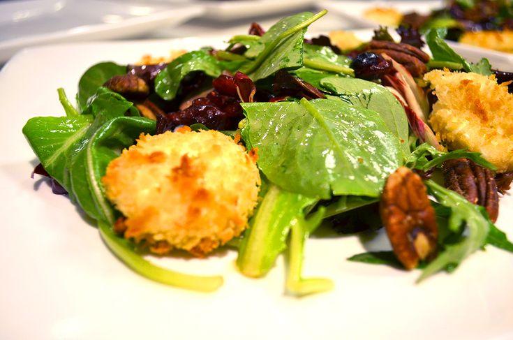 Baked Goat Cheese Salad With Creamy Walnut Vinaigrette Recipe ...
