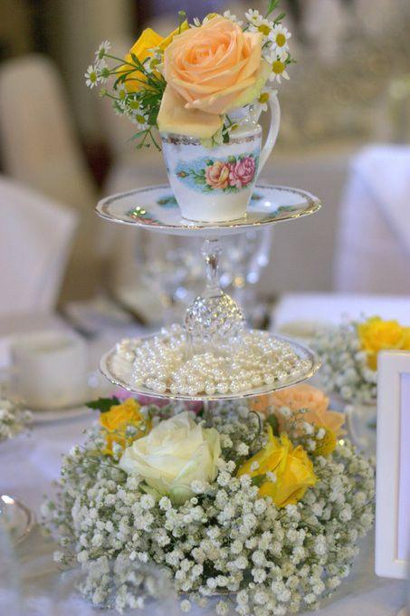 alaska themed tea table centerpiece