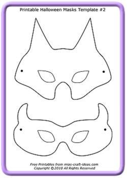 Выкройки масок кошка