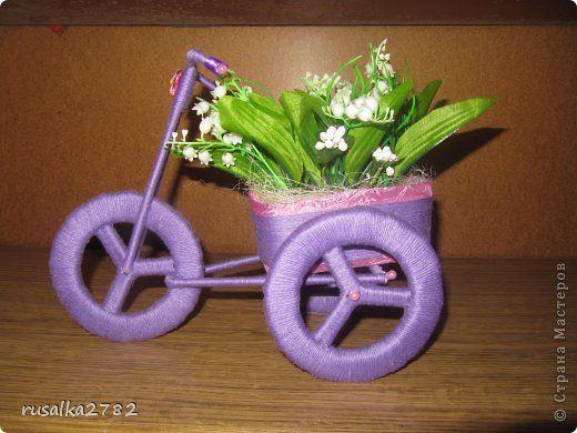Велосипед с цветами своими руками мастер класс 3