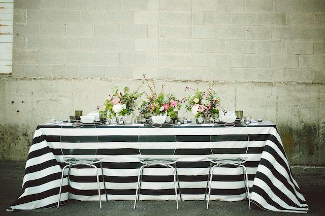 Edgy Femininity A Black And Blush Wedding