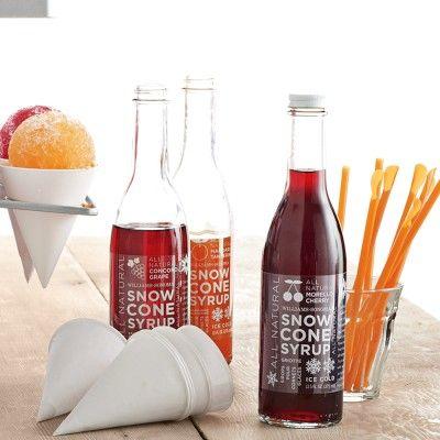 ... in the soda stream?? Williams-Sonoma Snow Cone Syrup #WilliamsSonoma