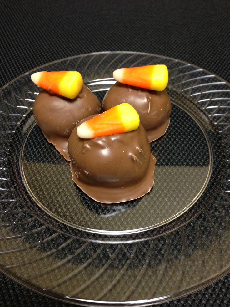 Candy Corn Oreo Truffles 1 package of candy corn Oreos ground in food ...