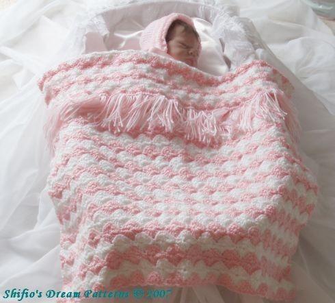 Free Crochet Pattern Pram Blanket : PATTERN FOR CROCHET PRAM BLANKET ? Free Crochet Patterns