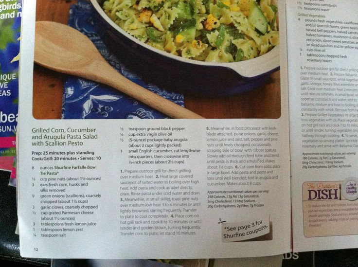 Grilled Corn, Cucumber & Arugula Pasta Salad with Scallion Pesto - In ...