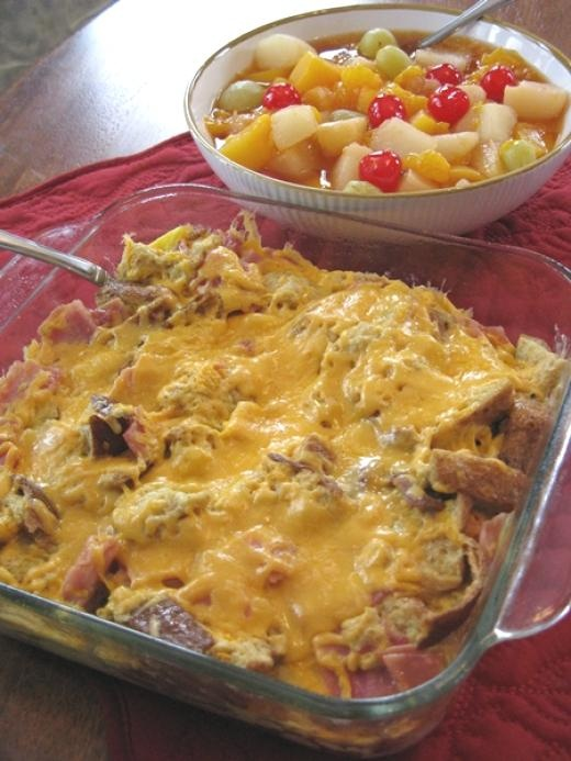 ham and cheese breakfast casserole | Breakfast | Pinterest