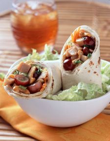 Grape and Cashew Chicken Salad Wrap - - From California Table Grape ...