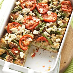 Tomato, Spinach, and Feta Strata #myplate #protein #vegetables