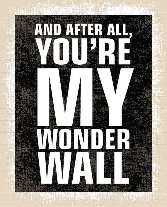 Oasis - Wonderwall Lyrics | SongMeanings