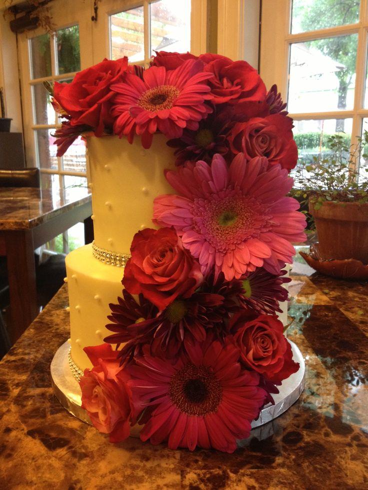 Real Flower Wedding Cake Weddings Pinterest