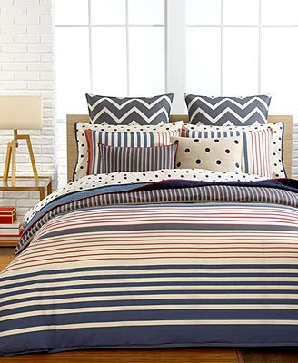 Tommy Hilfiger Bedding Reading Room Stripe Collection