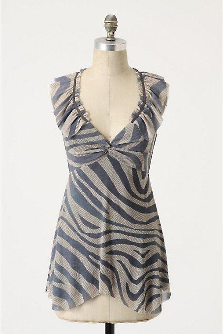 Zebra Blouse Anthropologie 67