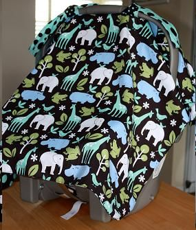 Homemade car seat cover. This pattern is so simple, and I love how it
