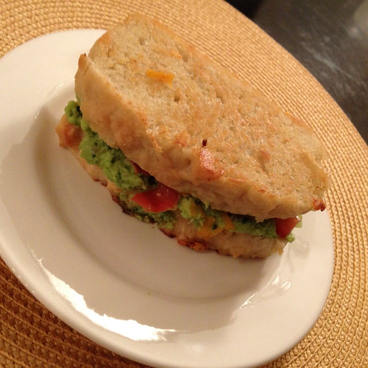 Bacon Guacamole Grilled Cheese Sandwich- quite tasty although I didn't ...
