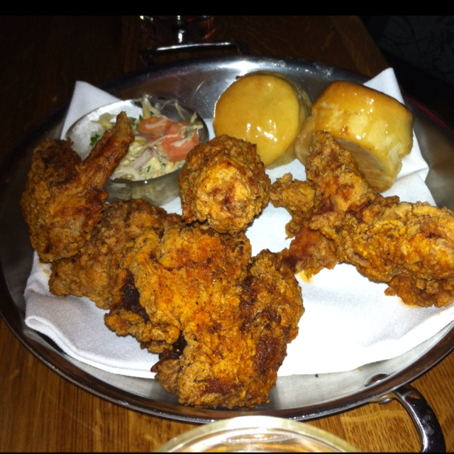 Hot fried chicken and biscuits from The Dutch (Andrew Carmellini) NYC