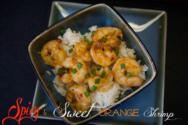 Spicy Sweet Orange Shrimp with Jasmine Rice