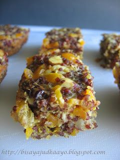 RED QUINOA BARS with mango and nuts | Desserts | Pinterest