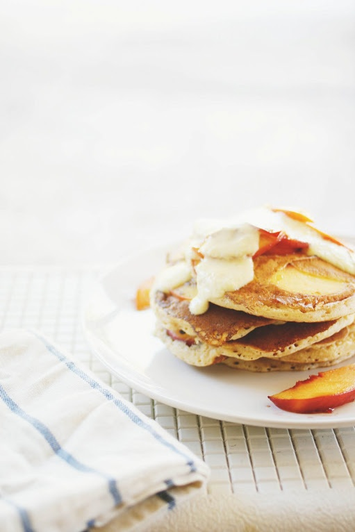 Spiced Peach Pancakes   Pancakes   Pinterest