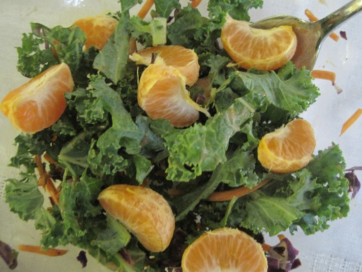 strawberry mandarin ginger kale salad | good-for-me foods. | Pinterest