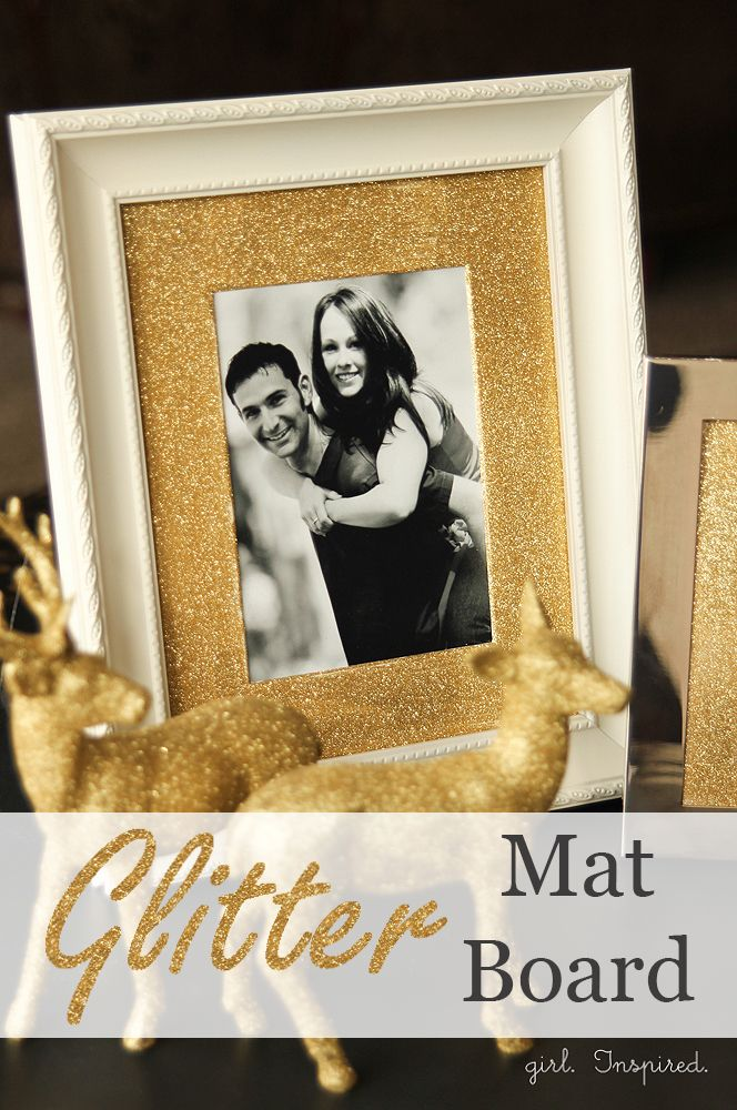 Glitter Mat Board for Picture Frames - DIY