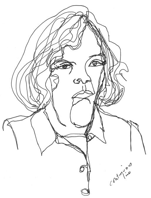Line Drawing Portrait : Continuous line portrait school projects pinterest