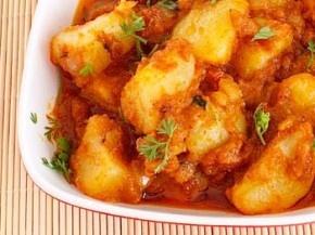Lasaniya Batata (spicy baby potatoes with garlic) | Recipe