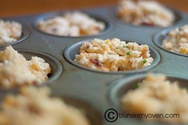 Bacon, Cheddar, and Chive Muffins