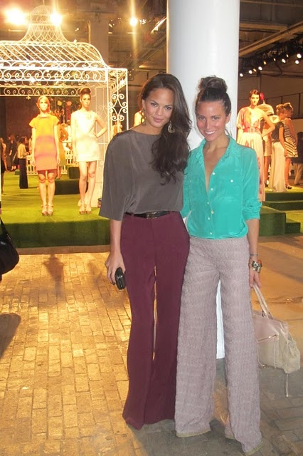 wide leg trousers and silky/satin tops