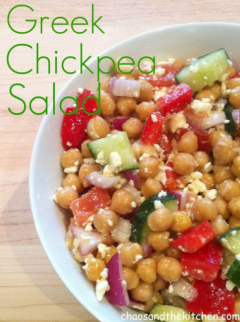 Greek-Style Chickpea Salad Recipe — Dishmaps