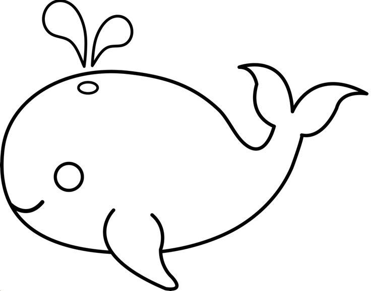 image about Whale Stencil Printable named Youngster Whale Template Printable Sketch Coloring Web site