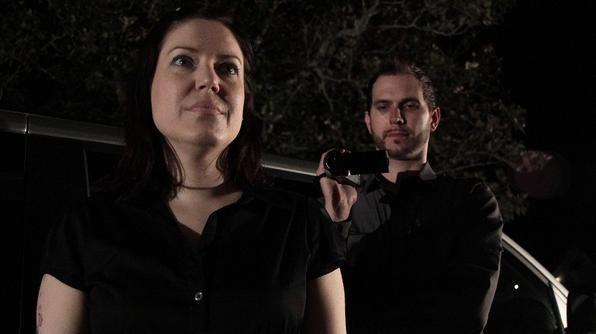 Amy Allan and cameraman Matt Anderson on The Dead Files