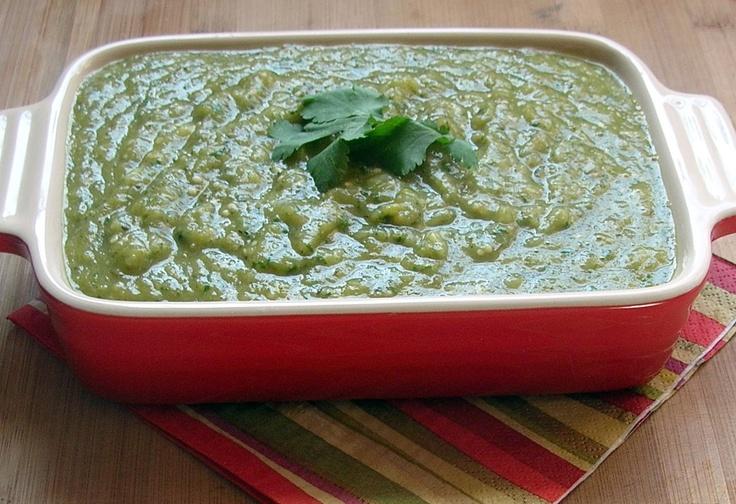 Roasted tomatillo salsa verde | Recipes | Pinterest
