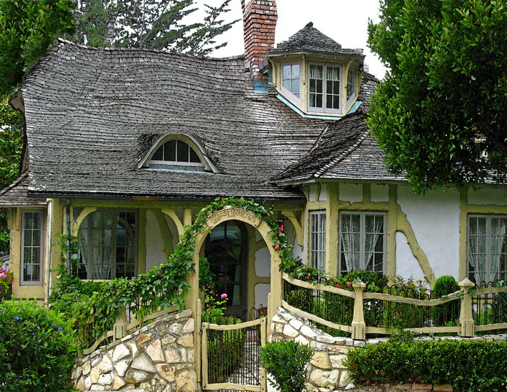 Pin By Mon Ange Dolls On Carmel Storybook Cottages Pinterest