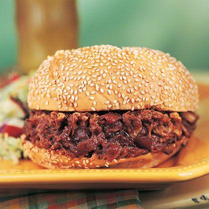 BBQ Pork Sandwiches Recipe - 10 weight watchers points per serving
