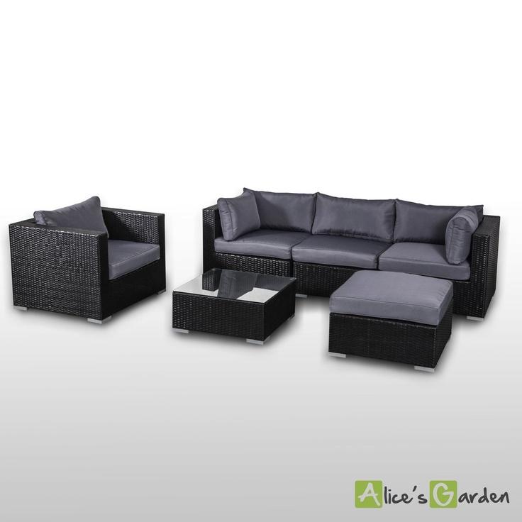 Salon de jardin canape d angle resine tressee noir for Ikea salon de jardin en resine tressee