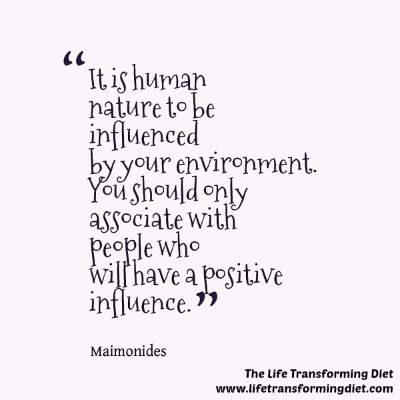 Maimonides on the positive surroundings - De'ot and