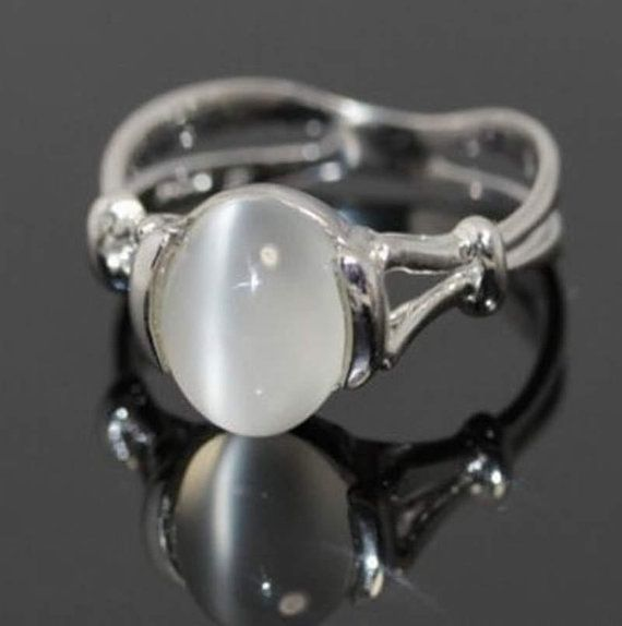 Twilight Jewelry BELLA Swan Silver MOONSTONE Ring Wedding Cullen Vamp ...