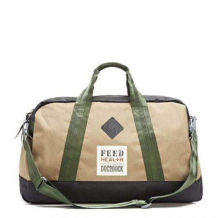 Duffle. For every bag purchased, FEED will donate an identical bag, which will then be filled with medical supplies by DOC2DOCK and given to a community health worker to help transport the supplies around the world.