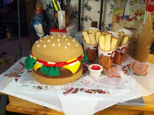 Community post 27 fast food themed cakes that are like for Burger themed birthday party