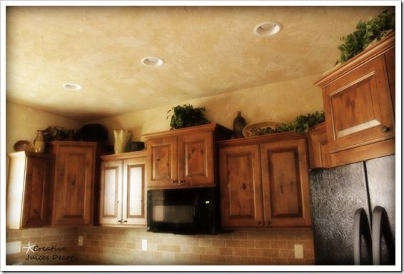 Decorating ideas for top of kitchen cabinets house furniture How to decorate the top of your kitchen cabinets