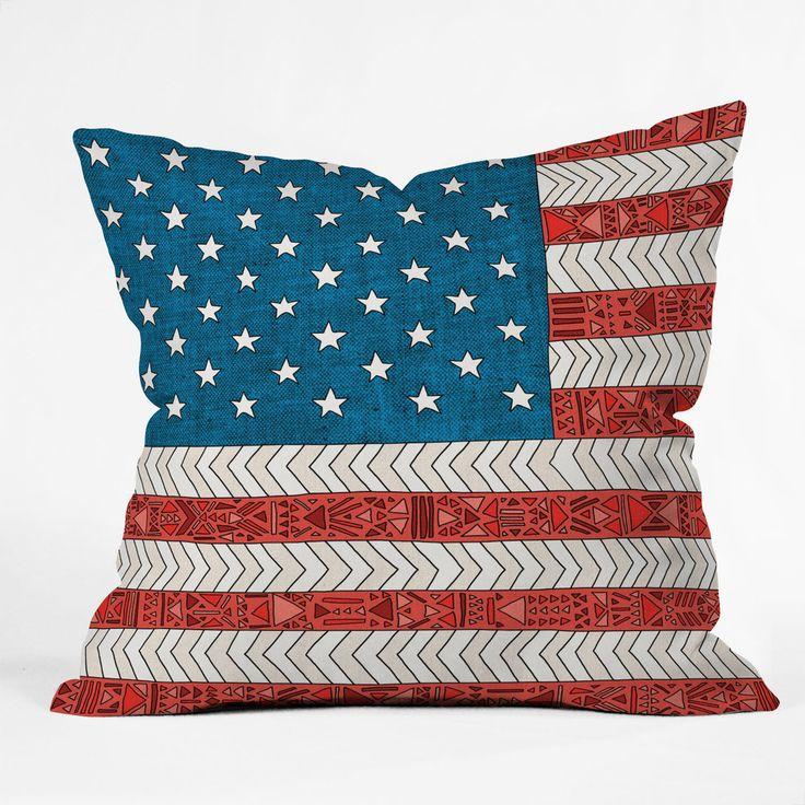 Throw Pillows Usa : Bianca Green USA Throw Pillow