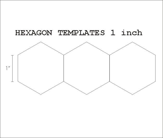 Hexagon Templates For English Paper Piecing - Costumepartyrun