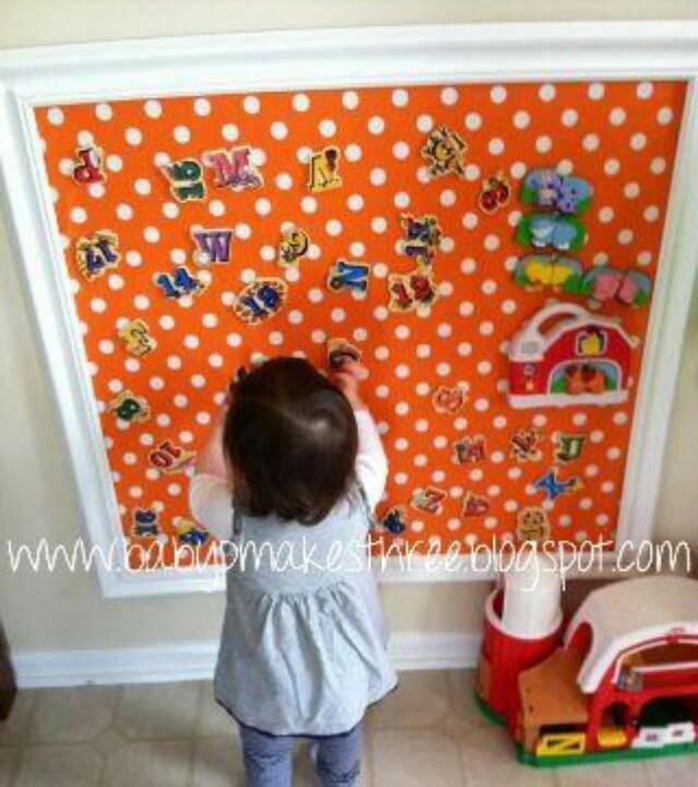 Magnetic Board For Kids Room : Diy magnet board again desk area or make a