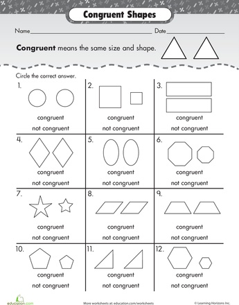 Early geometry > Shape Basics: Congruent Shapes