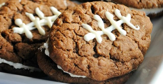 Chocolate Oatmeal Cream Pie Footballs | Recipe
