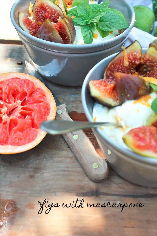 Figs with Mascarpone | My Recipes | Pinterest