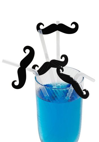 Mustachioed Refreshment Straws