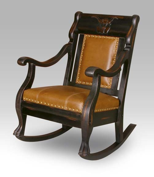 Western Leather Rocking Chair 3 Western Rocking Chairs