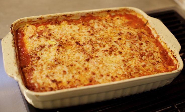 noodle-less lasagna...sounds like a great way to use up an ...