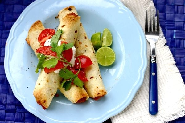 ... , Avocado, Tomato, Cilantro, Salsa, Real Food Fast: Homemade Taquitos